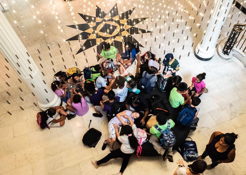 School Kids in the lobby