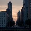 Manhattanhenge  freom East River anhd the Upper East Side