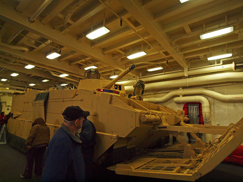 This is an amphibious personnel carrier.