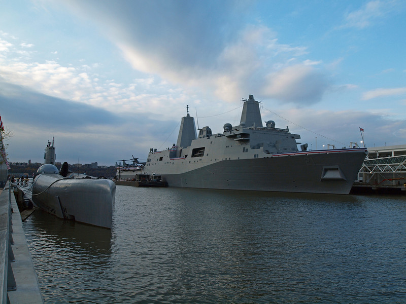 Pier 84 is next to the Intrepid Museum.