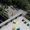 The museum overlooks the High Line.