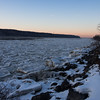 Frozen Hudson River from Riverdale Train Station