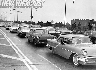 1966 New York City Transit Strikes cause immense traffic for the city's bridges.