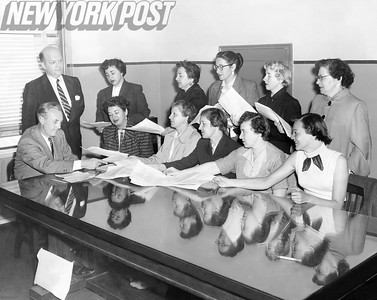 Tenants hand in Petition to Deputy Comissioner O'Connell. 1954