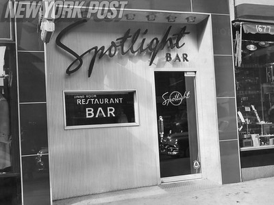 Spotlight Cafe, know spot in the 50's to place bets on basketball games. 1951