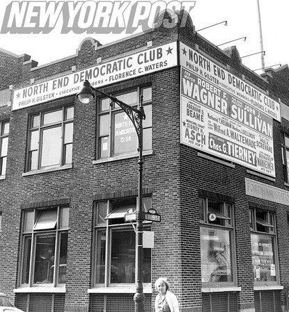 Street View of the Democratic Club in New York City. 1961