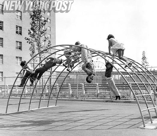 Children Playing at Luna Park Village. 1962
