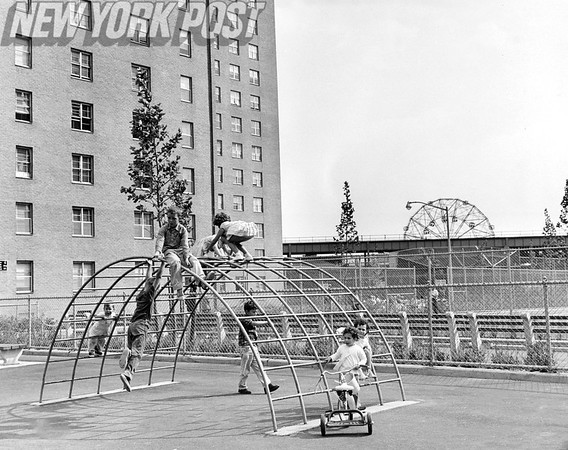 Children Playing in the Community Recreation Area. 1962