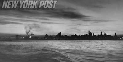 Barney Stein took this photo of the Brooklyn skyline from a Coast Guard cutter.