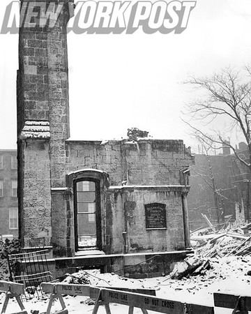 Here stands what is left of The Stark Rums of the Pillar of Fire Church. 1940