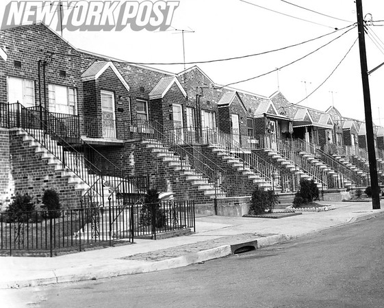 A row of houses East 84th St. 1962