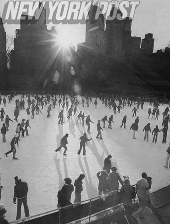 Skaters Enjoy Wollman Rink at Central Park. 1977