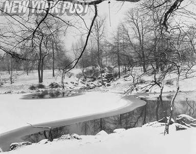 NYC Central Park BEAUTIFUL Scene Of Lake Stream. 1955