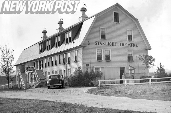 "The Starlight Theatre in Pawling, NY is showing ""Post Road"" by Wilbur Daniel Steele. 1933"