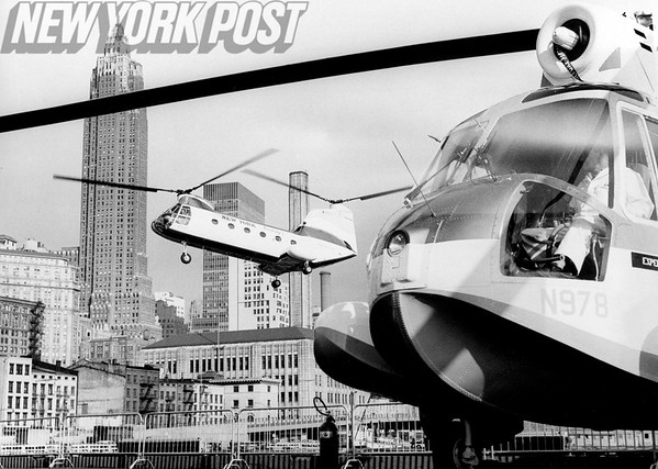 The New York City Port Authority's new Vertol 107 Helicopter. 1960