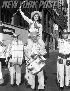 Denver residents take part in a parade in New York City. 1952