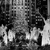 Beautiful 1987 Scene of Tree Lighting in Rockefeller Center