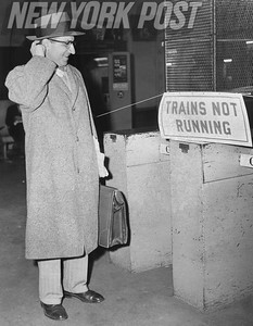 Jersey commuter scratches head trying to figure out an alternative to the Hudson Tubes. 1957