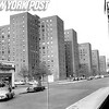 Street View Of NYC Housing Stuyvesant. 1956.