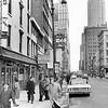 Street View Of Greenwich Street In Manhattan New York. 1962.