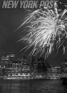 New Year's Eve Firework Celebration on the Hudson River.