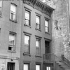 Street View of Apartment House In Manhattan New York. 1962.