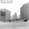 View Of E. Houston Showing The Baruch Housing and Williamsburg Bridge In New York. 1956.