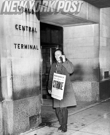 Grand Central Station- NYC Transit strike. 1961