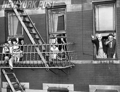 One last goodbye wave to the El on Third Ave. 1955