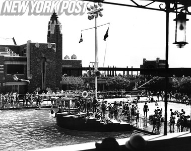 View of West Bathhouse Swimming Pool at Jones Beach 1934.