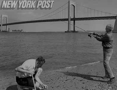 Two men enjoy the day Fishing and Shell hunting at Cryder's Point.