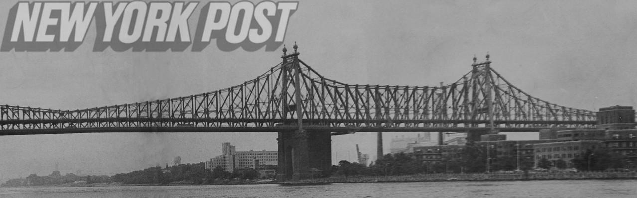 Beautiful shot of the Queensboro Bridge before it was restored.