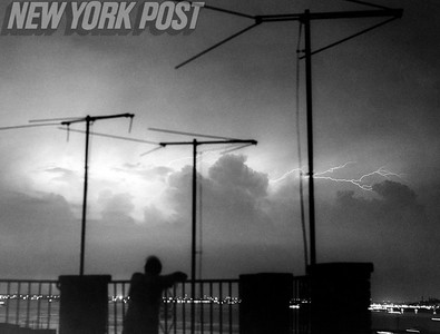 Beautiful photo of Heat Lightning Over The Narrows. 1959