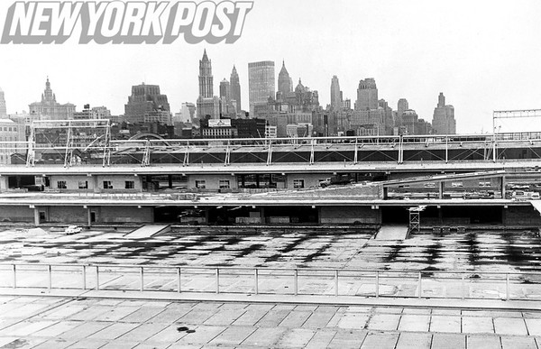 The new Pier 40 with a stunning across the Hudson River. 1961