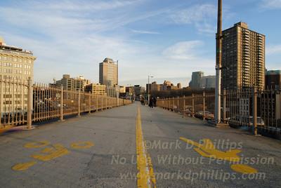 Enter the Brooklyn Bridge