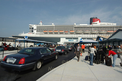 Queen Mary 2 in Brooklyn Cruise Terminal