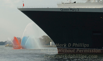 Queen Mary 2 at the new Brooklyn Cruise Terminal  Adam Yauch Park dedication with Frances Yauch in Brooklyn Heights