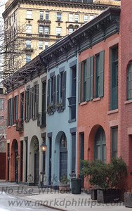 College Place carriage houses hidden off of Love Lane in Brooklyn Heights