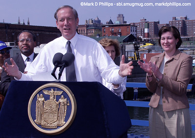 Governor George Pataki at the Gowanus Canal in Brooklyn in 2006