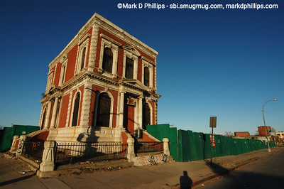 A beautiful building at the corner of third and 3rd by the Gowanus Canal sits alone as we await the construction of a Whole Foods Market beside it.