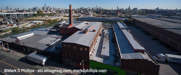 Ninth Street and the Gowanus Canal area from Smith-Ninth Street Subway platform in Brooklyn looking toward Manhattan and downtown Brooklyn in 2013
