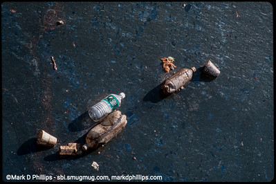Bottles float on the horrid surface of the water in the Gowanus Canal in 1999. The current cost of the overall EPA Superfund cleanup plan is estimated to be over $1.5 billion, and the entire project won't be completed until mid-2023. The Gowanus Canal is located in one of the densest population centers in America.