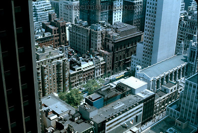 View from 1290 Avenue of Americas looking past the CBS building toward the Museum of Modern Art, May 1971.