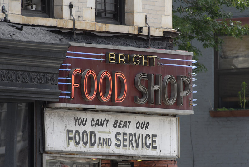 Bright Food Shop Sign