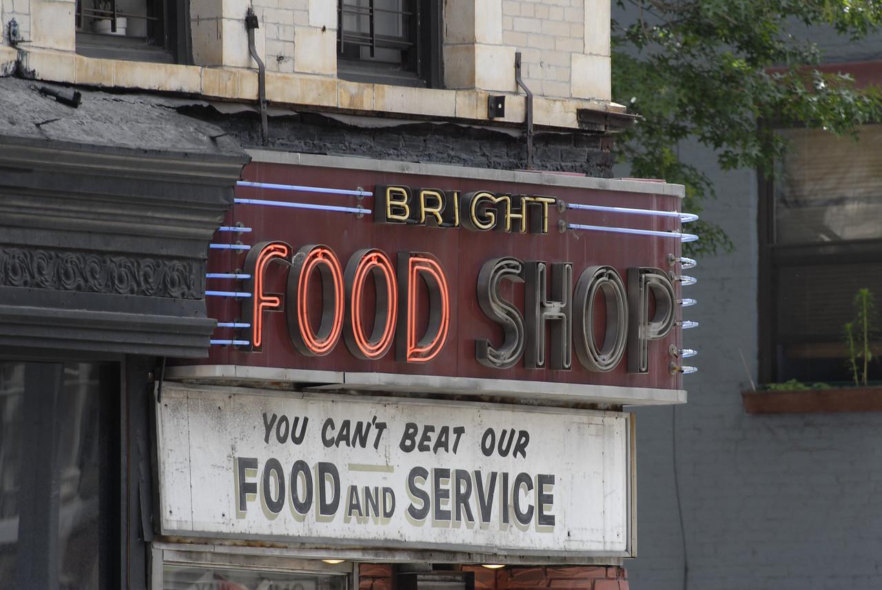 Bright Food Shop Sign