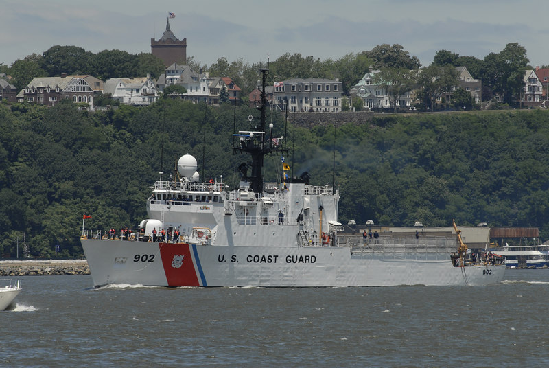 Coast Guard Cutter Tampa on the Hudson River