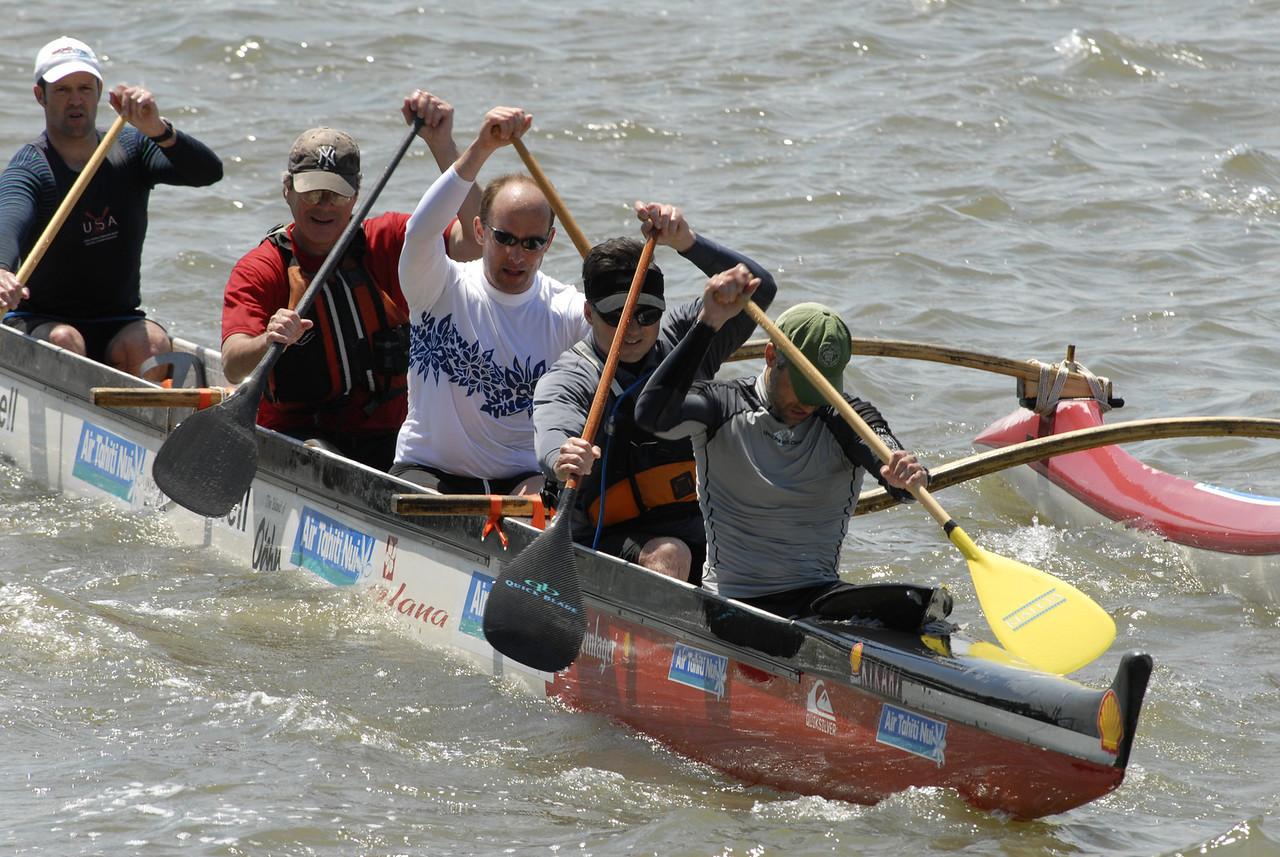 Outrigger Canoe on Hudson