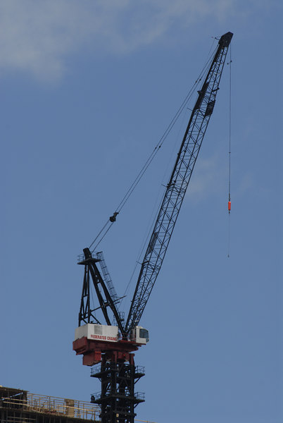 Construction Crane 1/2 mile away