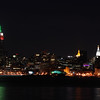 Manhattan Sky Line - Italian Colors for Columbus Day