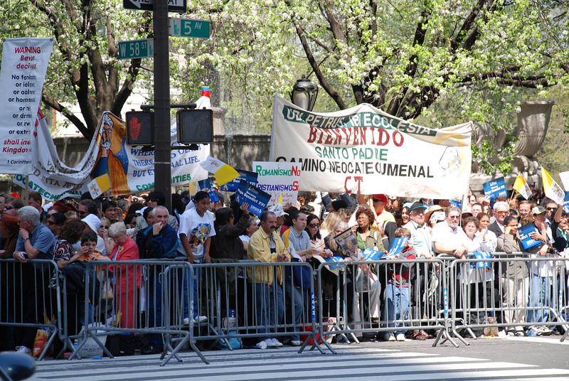 Pope Benedict vists NYC April 2008